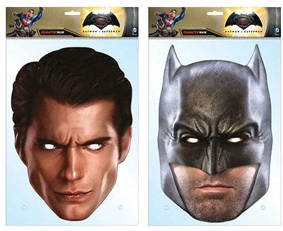Batman V Superman Dawn of Justice Official 2D Card Party Face Masks Fancy Dress