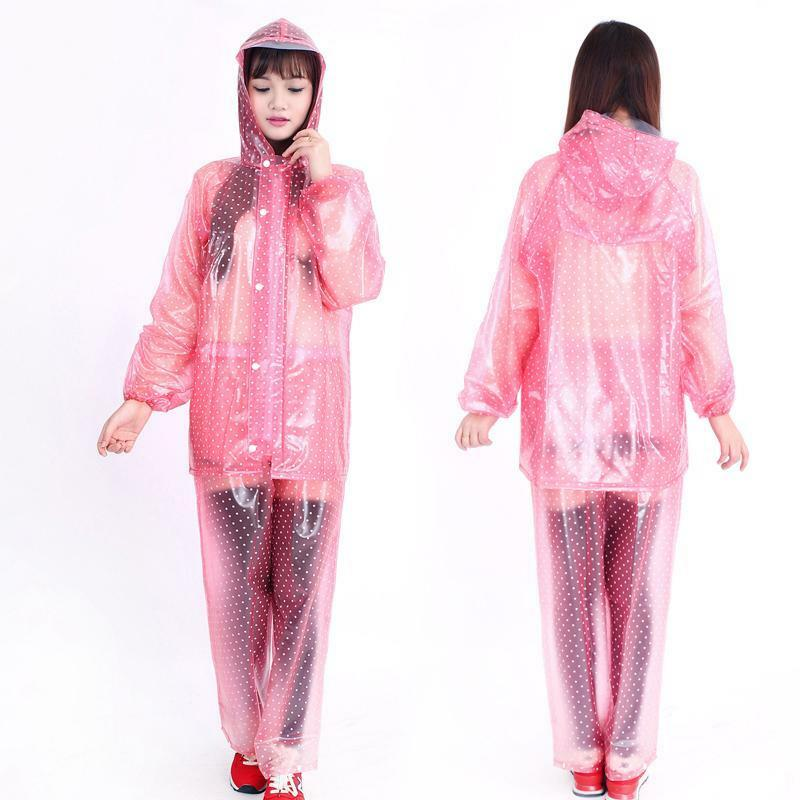 Transparent Raincoat Poncho Women Outdoor Rain Wear Layer Waterproof Breathable