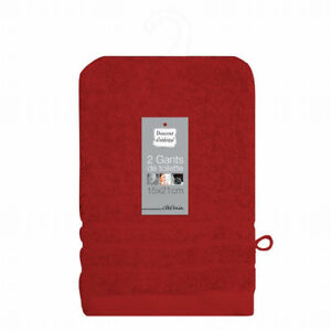 GANTS-DE-TOILETTE-15-X-21-CM-100-COTON-ROUGE-LOT-DE-2
