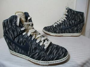 cheap for discount 24018 be2db Image is loading WMNS-NIKE-DUNK-SKY-HI-PRM-SAIL-ARMORY-