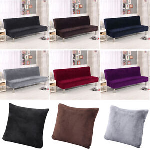Outstanding Details About New Armless Futon Cover Sofa Bed Cover Full Size Thicker Plush Sofa Slipcover Us Download Free Architecture Designs Scobabritishbridgeorg