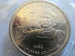 1992 Gibraltar Virenium Zwei Pfund Münze Discoverer Christopher