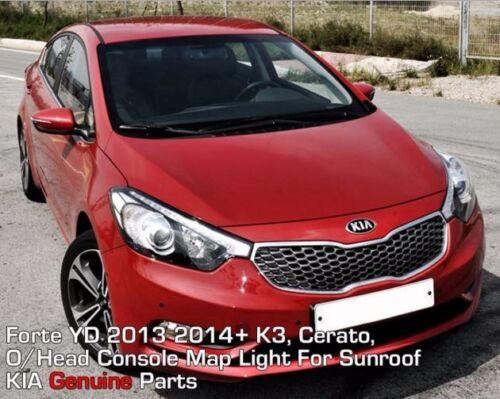 O//Head Console Interior Light For Sunroof For KIA Forte K3 YD Cerato 2013 2016