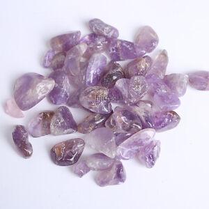 200g-Bulk-Tumbled-Stones-Amethyst-Quartz-Crystal-Healing-Reiki-Mineral-Pouch