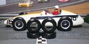 1/32 URETHANE SLOT CAR TIRES 2pr Set fits SCALEXTRIC Maserati 250F, F375, F156,