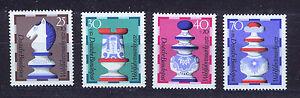 ALEMANIA-RFA-WEST-GERMANY-1972-MNH-SC-B491-B494-Chess-pieces