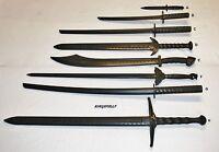Black Polypropylene Martial Arts Training Practice Sword Or Knife Larp Prop