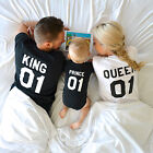 King Queen Prince 01 Shirt, Father Mother Son Matching Family Shirt, Graphic Tee
