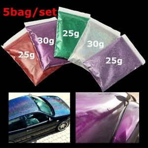 1-Set-Red-Purple-Green-Silver-Lavender-Glitter-Glass-Metal-Flake-Auto-Car-Paint