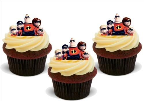 Incredibles 2 Character Mix Stand Up Premium Card Cake Decorations and Toppers