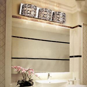 Crystal mirror modern vanity wall light lamp bathroom - Crystal light fixtures for bathroom ...