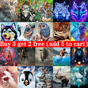 5D Diamond Painting Embroidery Cross Craft Stitch Art Kits Animal Home DIY Gift