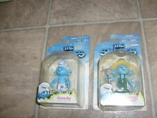 THE SMURF MOVIE FIGURE LOT GROUCHY & FARMER SMURFS LOT NEW MOSC