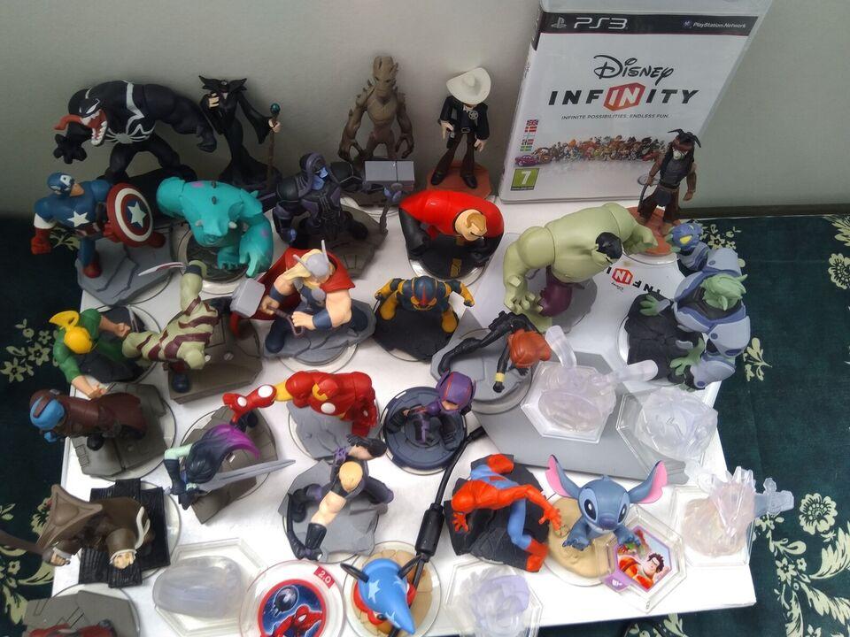 Infinity og Skylanders figurer, PS3, action