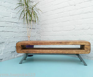 Image Is Loading Tv Stand Narrow Retro Style Rustic