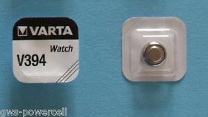2-x-VARTA-Uhrenbatterie-V394-SR936SW-56mAh-1-55V-SR45-Knopfzelle-AG9