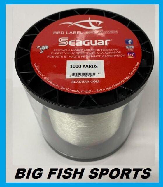 "Clear 10VZ1000 10 lb Seaguar InvizX Freshwater Fluoro Line .010/"" 1000 Yds"