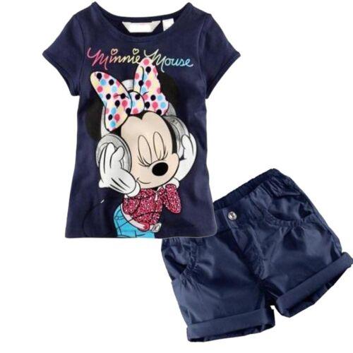 Newborn Kids Baby Boys Girls Minnie Mouse T-Shirt Tops+Shorts Pants Set Outfits
