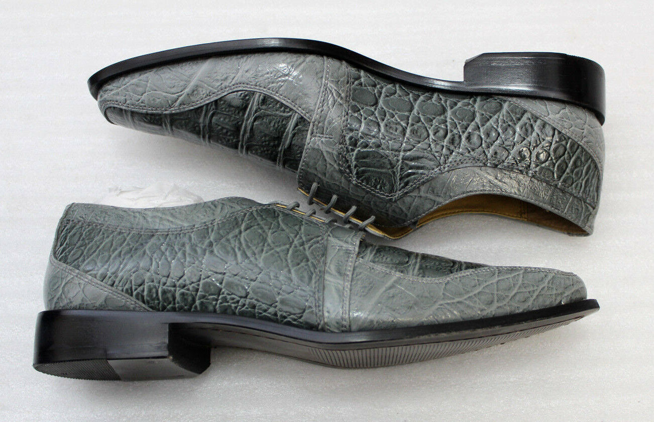 Giorgio Lederoptik Brutini Herren Schuhe grau Lederoptik Giorgio Größe 9 1/2 bzw. 44 NEU 272eb7