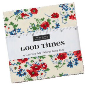Moda-Good-Times-5-034-Charm-Pack-Fabric-Quilting-Squares-21770PP-SQ70