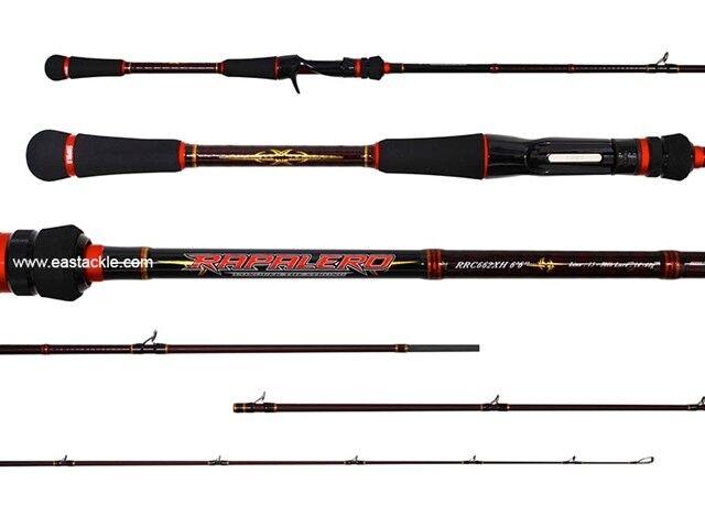 Rapala RAPALERO 6'6  1 Piece - RRC-661XH Overhead Bait Casting Fishing Rod