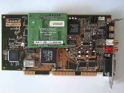 Soundblaster AWE64 Gold ISA with 8MB RAM Upgrade Card (Total 12MB) New