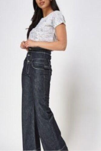 J.O.L Ava navy retro high waist flare leg jeans UK size 14