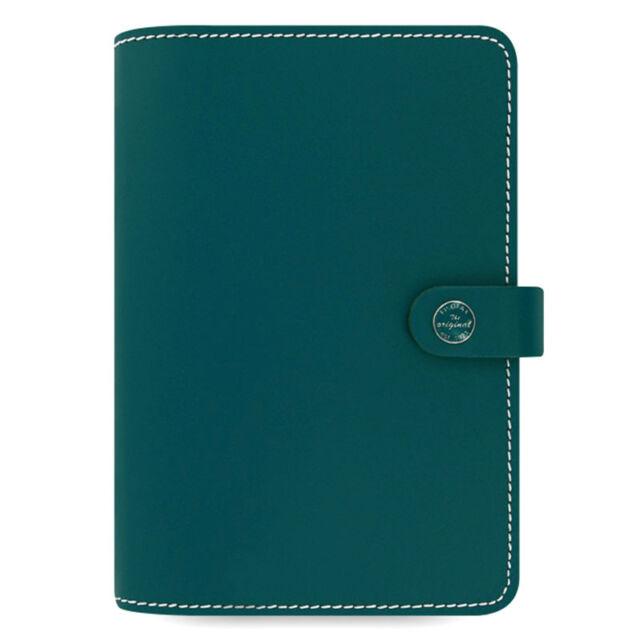 Filofax The Original Personal Organiser Dark Aqua Leather With 12 Month Diary