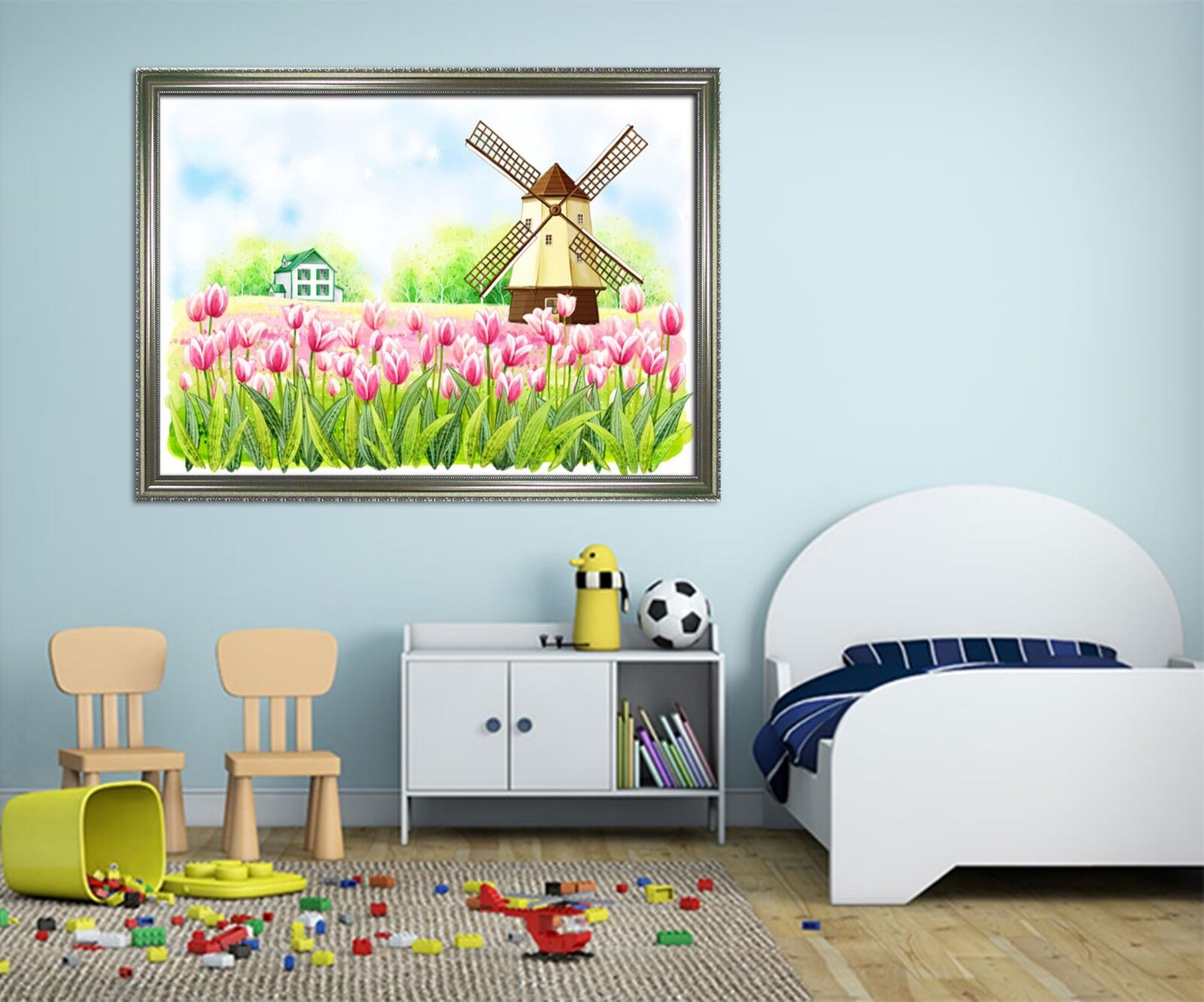 3D Pink Tulip Cabin 22 Framed Poster Home Decor Print Painting Art AJ WALLPAPER