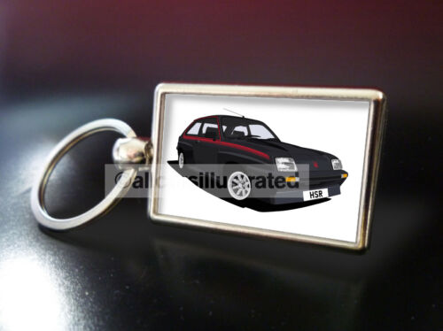 VAUXHALL CHEVETTE HSR BLACK HSR METAL KEY RING.