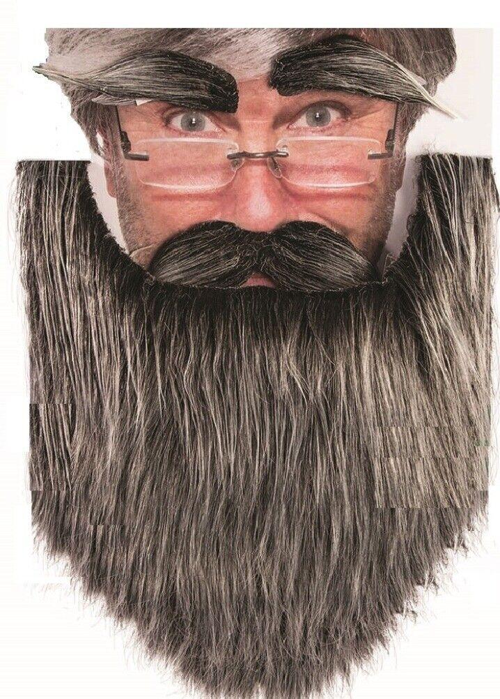 1x Fake Beard Black Brown Grey Goatee False Disguise Fancy Dress Fun Stylish