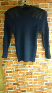 Royal-Navy-Jumper-Wool-Jersey-Genuine-80-Wool-Navy-Blue-MOD-Military