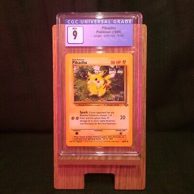 1999 Pokemon Base Set Unlimited Pikachu CGC 9 Mint