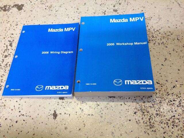 2006 Mazda Mpv Van Service Repair Shop Manual Set Factory