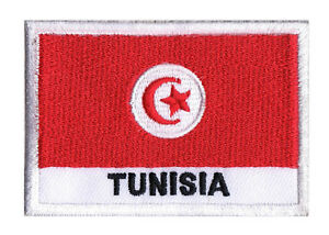 Ecusson-patche-patch-badge-a-coudre-drapeau-Tunisien-TUNISIE-70-x-45-mm