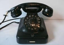 ALTES BAKELIT TELEFON  W48  a uSz 1963 von RB & Co, noch mit Wählscheibe !!!