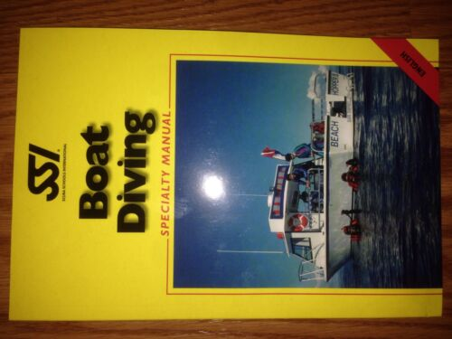 Scuba Schools International Boat Diving Specialty Manual NEW English Clark
