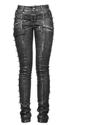 New PUNK Rave Heavy Metal Rock Gothic Leather pants K-170 ALL STOCK IN AUSTRALIA
