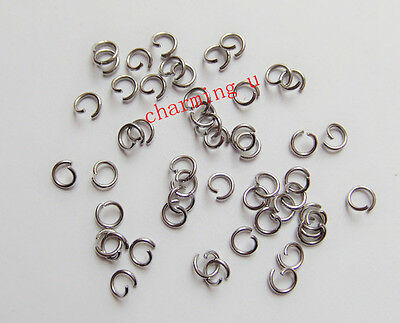 Fashion Jewelry Jewelry & Watches Punctual 100 Pz Anellini In Acciaio Inox Colore Argento Scuro 4x0.8mm A Great Variety Of Models