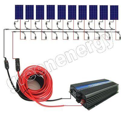 1KW 600W 500W 400W 300W  WATT COMPLETE ON GRID SOLAR SYSTEM Solar Panel system
