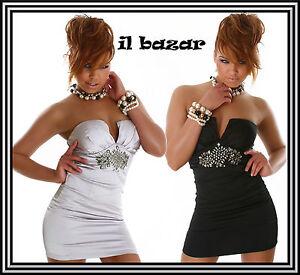 vestido-de-mujer-mini-vestido-corto-saten-strass-central-2-colores-tamano-S-M