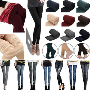 Women-039-s-Warm-Fleece-Lined-Thick-Thermal-Stretchy-Skinny-Jeggings-Leggings-Pants