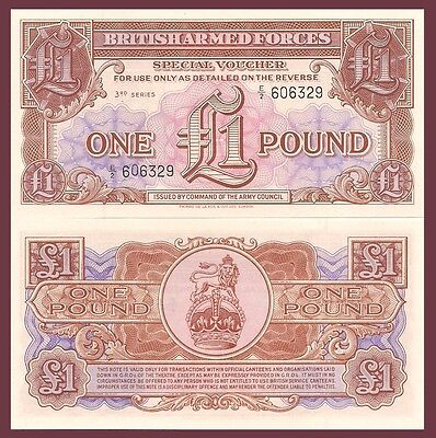 Armed Forces 1 pound UNC M29 1956 Great Britain ND