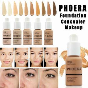 PHOERA-Foundation-Concealer-Make-Up-Soft-Brighten-Matte-Full-Coverage-Liquid-NEW