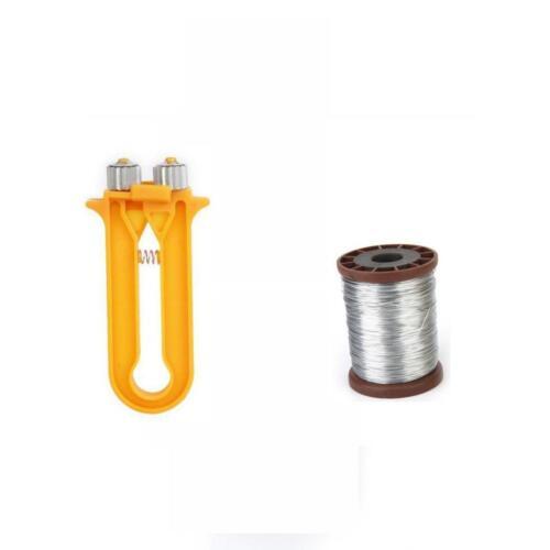 2in1 Orange Plastic Bee Wire Cable Tensioner Crimper Frame Crimping Tool