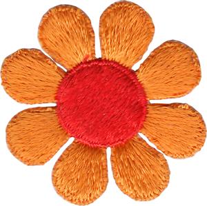 Patch Orange Daisy Flower Hippie Hippy Sixties 60s Retro Badge Sew Iron 22100