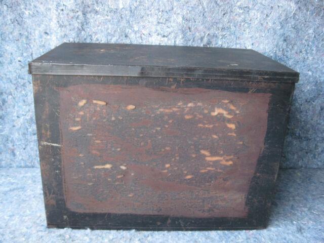 Antique Metal Store Display Match Box