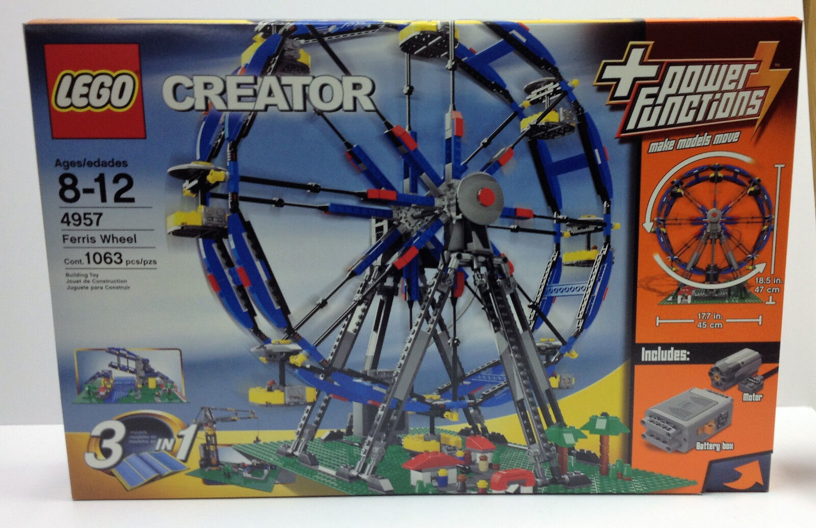 Lego Creator:  4957 Motorized Ferris Wheel NEW MINT Condition Sealed