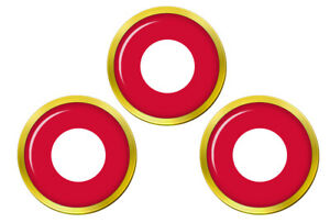 Royal-Danois-Air-Force-Kongelige-Danske-Flyvevabnet-Cocarde-Golf-Ball-Marqueur