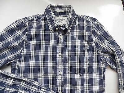 Abercrombie & Fitch~Muscle~Blue & White Plaid Shirt size Small